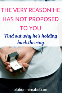 why he has not proposed