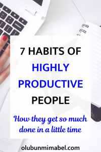 habits of productive people