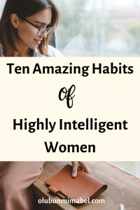 habits of intelligemt women